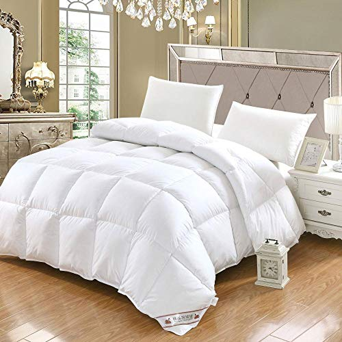 CHOU DAN Bettdecke und Kissen für Kleinkinder,Eiderdaunen Bettdecke Ganzjahres-Bettdecke in voller Größe mit Ecken Weiche Bettdeckeneinsätze hypoallergen 200 * 230 2000g