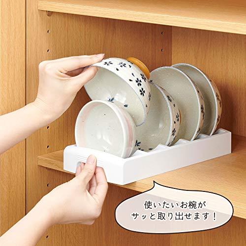 また、収納時にお茶碗を隣同士触れずに収納できるので、衛生的なうえに、プラスチック製なので、スタンドも水洗いでき、お手入れも楽チン♪
