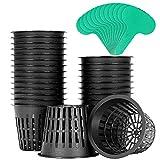 3 hydro net pot - VIVOSUN 25 Pack 3 Inch Net Pots Heavy Duty Net Cups with 12 Pcs Plant Labels