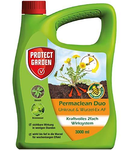 PROTECT GARDEN Permaclean Duo Unkraut & Wurzel Ex AF, anwendungsfertiger Unkrautvernichter mit Zweifachwirkung gegen alle Unkräuter und Ungräser, 3 Liter