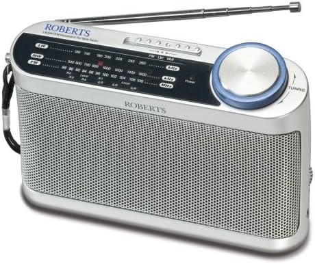 Roberts Radio R9993 Portable LW/MW/FM Radio with Headphone Socket, Grey