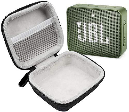 JBL GO 2 IPX7 Waterproof Ultra Portable Bluetooth Speaker Bundle with Deluxe Hard-Shell Case (Green)