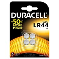 Duracell Specialty LR44 Alkaline Coin Battery, Pack of 4