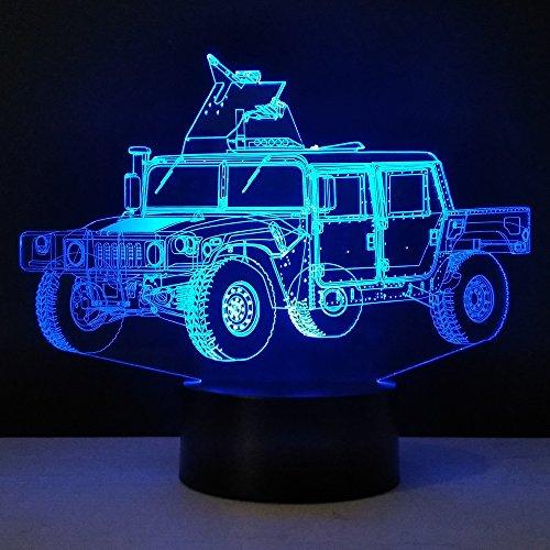 Camion Militaire Forme Lampe méthacrylate Conseil Artisanat Nuit lumière Innovation Nuit lumière Couleur Cadeau pour Enfants