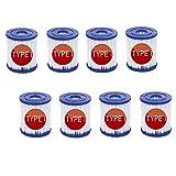 YYSY Filtro para piscina Bestway tipo I, reemplaza los cartuchos de filtro de tamaño 1 para Bestway, Whirlpool o spa, recambio para filtro de limpieza de piscina hinchable (8 unidades)