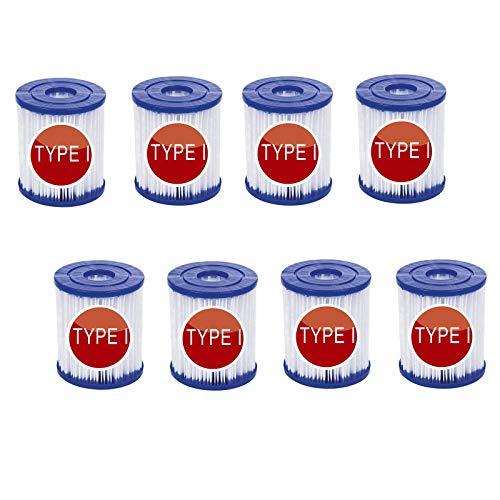 YYSY Filtro para piscina Bestway tipo I, reemplaza los cartuchos de filtro...