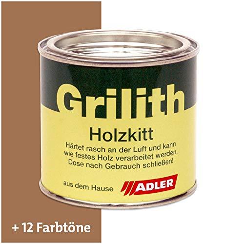 ADLER Grilith Holzkitt Spachtelmasse Kitt für Holz Möbel Basteln Reparieren Nussbaum 200 ml