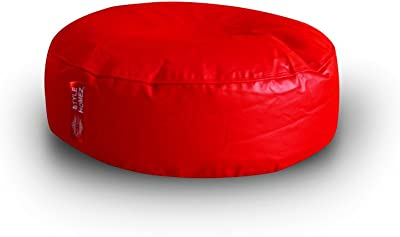 Style Homez Classic Round Floor Cushion XL size Red Color Cover Only