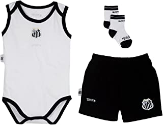 Rêve D'or Sport - Kit Body Regata, Shorts e Meia Santos Unissex, 3, Branco/Preto