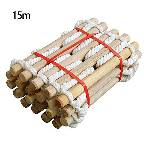 Gezichtskoord van massief nylon van massief hout, brandladder, noodredding, anti-slip klimmen, kan opnieuw worden gebruikt, vlamvertragende veiligheidsladder, draagvermogen 200 kg