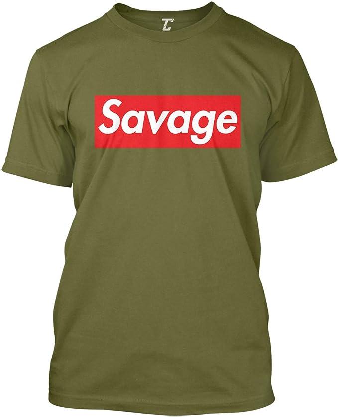 Savage Homme Imprimé à manches courtes T-shirt 100/% Coton Multi Color Print
