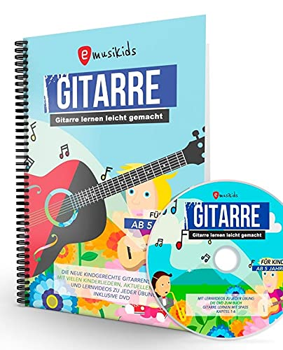 Die neue Gitarrenschule für Kinder, Kindgerecht Gitarre lernen mit vielen Kinderliedern, inklusive DVD, aktuellen Songs und Lernvideos zu jeder Übung: ... aktuellen Songs und Lernvideos zu jeder Übung