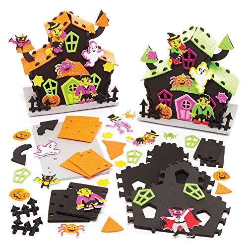 Baker Ross Halloween Spukhaus Bastelsets für Halloween-Dekorationen (2 Stück) Kunsthandwerk, Geschenke, Partyaktivitäten