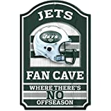 """Wincraft NFL New York Jets Fan Cave Wood Sign, 11"""" x 17"""""""