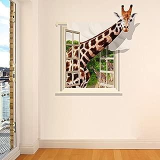Funif 3D Animal Giraffe Wall Sticker DIY Removable Wall Decals Wallpaper Decorative Wall Art Mural for Home 23.6