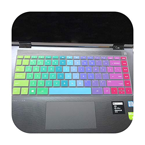 For HP Pavilion x360 14-cd0009la 14-cd0065tx 14-cd0033tx cd0015tx cd00001nf 14 '' Keyboard Protector Film Cover Skin Stickers-rainbow-