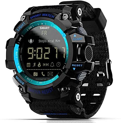 wyingj Reloj Inteligente Bluetooth Reloj Digital Podómetro Deportes Reloj Inteligente Hombres IP67 Impermeable-C