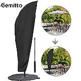 Gemitto Housse de protection pour parasol avec tige et parasol déporté 2 à 4 m Grand parasol Protection contre les intempéries, les UV, le vent Outdoor pour parasol déporté 280 x 30/81/46 cm