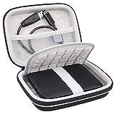 Lacdo Hard Drive Case for Seagate Portable Expansion Seagate One Touch Seagate Backup Plus Slim Seagate Game Drive Portable External Hard Drive 1TB 2TB 3TB 4TB 5TB USB 3.0 2.5 Inch Travel Bag, Black