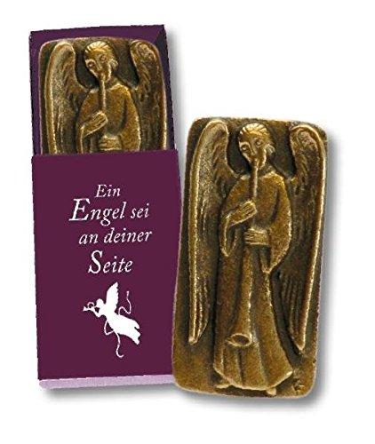 Bronze Ein Engel sei an deiner Seite: Bronze-Handschmeichler in Geschenkverpackung