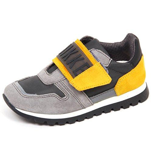 BIKKEMBERGS E1662 Sneaker Bimbo Grey Fend-ER L04 Low Scarpe Shoe Kid Boy [30]