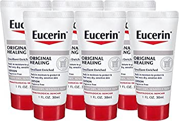 Eucerin Original Healing Soothing Repair Rich Lotion Fragrance Free Dry Skin 1 Oz Travel Size  Pack of 6