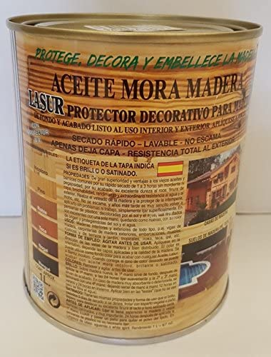 ACEITE MORA MADERA SATINADO 1 L (TECA)