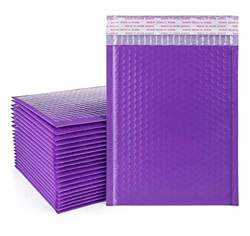 30 sobres de burbujas de protección A5, 16 x 23 cm, impermeables, bolsas de envío de plástico autoadhesivas, sobre de envío de burbujas para embalaje y almacenamiento, color morado