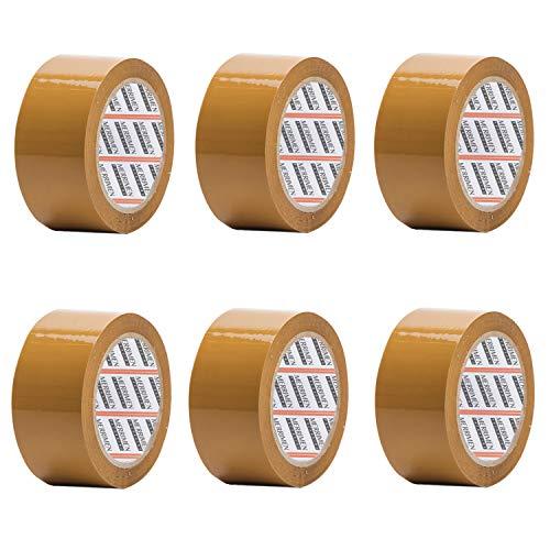 Merrimen Paketklebeband, 48 mm x 66 m, Braun, 6 Rollen pro Packung Dieses 6 Rollen Packband bietet eine starke, sichere und klebrige Versiegelung für Ihre Boxen.
