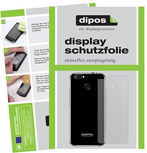 dipos I 6X Schutzfolie matt kompatibel mit Oukitel U22 Rückseite Folie Bildschirmschutzfolie