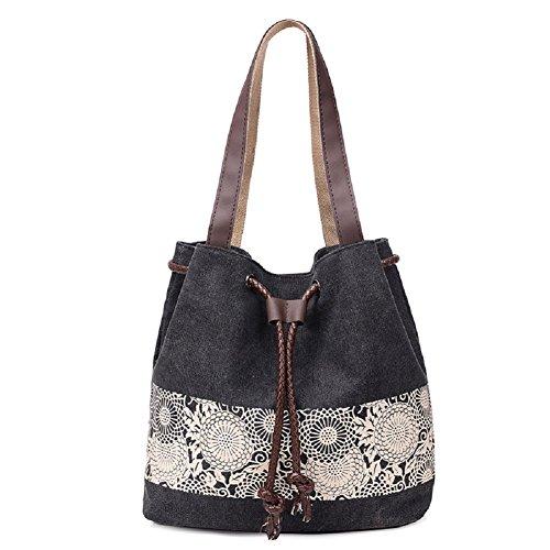 MiCoolker(TM) Cute Polka Dot Little Girls Lady Lightweight Canvas Shoulder Messenger Bag School Student Bags