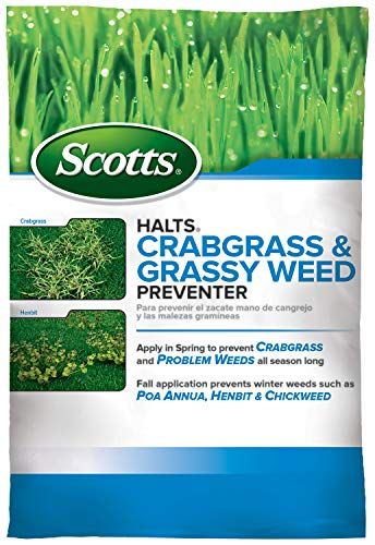 Scotts 49915 Crabgrass, Pre Emergent Control for Lawns, Halts Crabgrass & Grassy Weed Preventer, 10,000 sq ft,