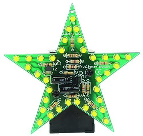 VELLEMAN - MK169Y Minikits blinkendes LED Star, Gelb 840373