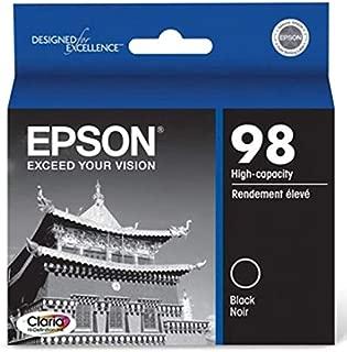 Epson T098120 OEM Ink - (98) Artisan 700 710 725 730 800 810 835 837 Claria Hi-Definition High Capacity Black Ink (550 Yield)