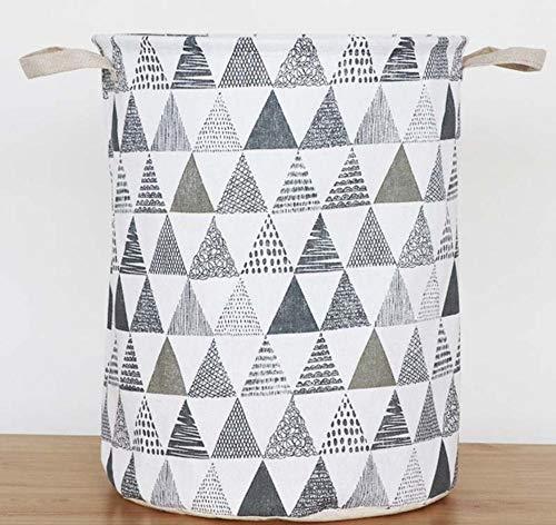 sufengshop Abstracte driehoek berg kleding wasmand zak opvouwbare grote capaciteit kleding opbergtas kinderspeelgoed opbergemmer waterdicht 33x42cm