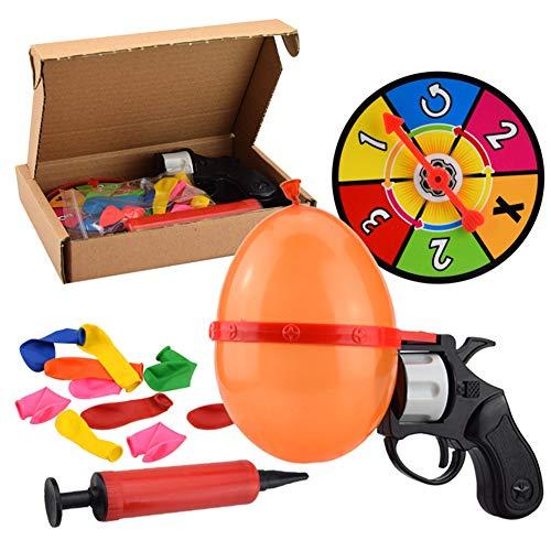 1Set Glücksballon Pistol Toy Russian Roulette Ballon-Party Interaktives Spiel Pistole Partei Tricky Spielzeug Für Erwachsene Und Kinder