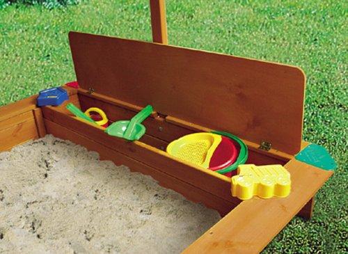 GASPO Spielzeuglade aus Holz zu Sandkasten Mickey, L 117 cm x B 31,5 cm x H 4 cm