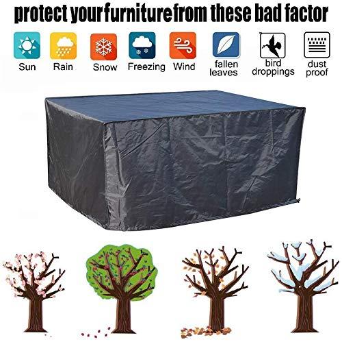 Cubre Objeto Protección Muebles de Jardín Impermeable Patio/Ratán/Muebles de Exterior Conjunto de Mesa Impermeable Transpirable, 350x250x90cm,, 350x250x90cm