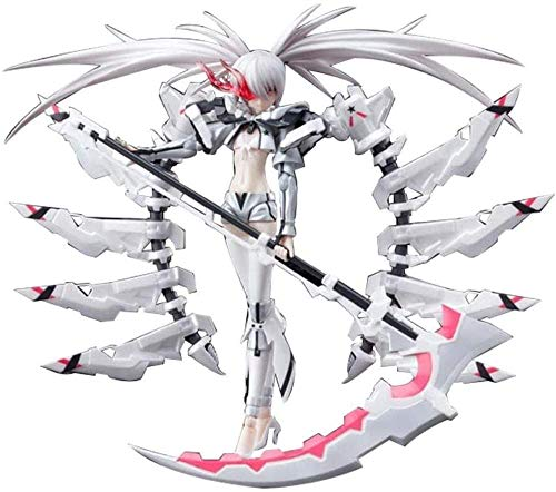 YDDM Black Rock Shooter: White Black Rock Shooter PVC Figura Anime Modelo de Juguete