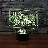 Yingqi 3D LED gegangenes Fischen-Tabellen-Lampe 7 Farben, die...
