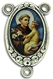 Gifts Catholic, Inc. LOT of 5 - St Anthony Rosary Center Piece Color Image. 1 Inch