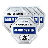 5pcs/lot de sécurité de surveillance G/M² Système d'alarme antivol anti-effraction étanche Bleu Sticker Autocollant pour panneau avertisseur