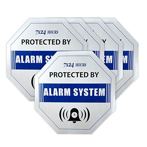 5pcs/lot de vigilancia de seguridad GSM sistema de alarma antirrobo Antirrobo impermeable azul señal de advertencia adhesivos adhesivo