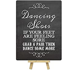 dancing shoes sign wedding