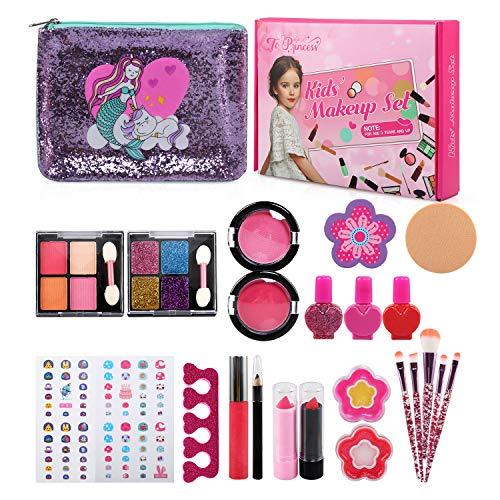 Ballery Kit de Maquillaje Niñas, 25pcs Juego de Maquillaje para niños , Cosméticos...
