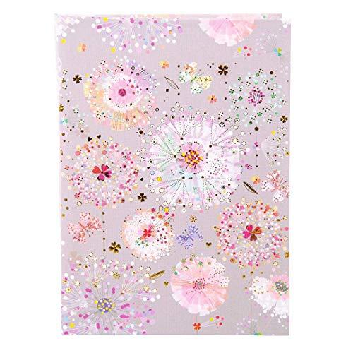 goldbuch 64329 Notizbuch DIN A5, Notizheft Primavera Grey, Kladde mit 200 chamoisfarbene Blankoseiten, Einband Kunstdruck mit Goldprägung und Relief, Buch Grau