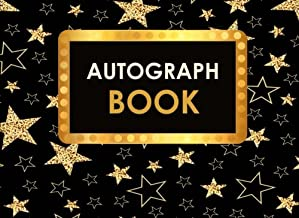 Autograph Book: Celebrity Autograph Book for Adults & Kids, 100 Blank Pages, Starlight Design, Keepsake, Memory Book