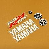 Blanco/Rojo/Blanco 7 Conjunto de pegatinas de pieza Yamaha - YZF-R125 08-17