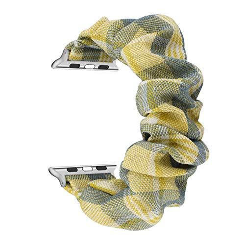 Banda elástica Scrunchie Lady pulsera Stap para Apple Watch Band SE 6 5 40mm 44mm 38mm 42mm Bucle de tela para iWatch 4 3 2 1 Correa