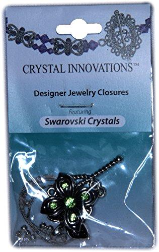 Swarovski Crystal Innovations Peridot Green Flower & Leaf Clasp Bracelet Kit (2)